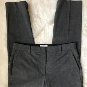 Aritzia Babaton Gray Micro Plaid Graham Wool Pants